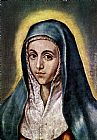 El Greco Canvas Paintings - The Virgin Mary