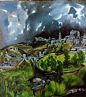 El Greco Canvas Paintings - View of Toledo