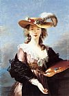 Elisabeth Louise Vigee-Le Brun - Self Portrait in a Straw Hat
