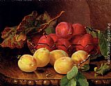 Eloise Harriet Stannard - Plums On A Table In A Glass Bowl