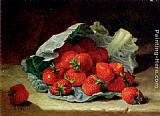 Eloise Harriet Stannard - Strawberries On A Cabbage Leaf
