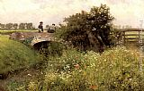 Emile Claus - A Meeting on the Bridge