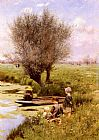Emile Claus - Afternoon Along The River