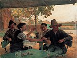 Emile Friant - La Discussion politique