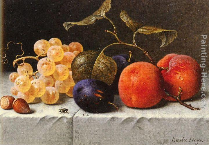 Emilie Preyer Still Life with Fruit and Nuts