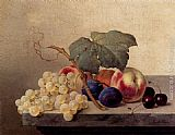 Emilie Preyer Still Life With Grapes, Peaches, Plums And Cherries painting