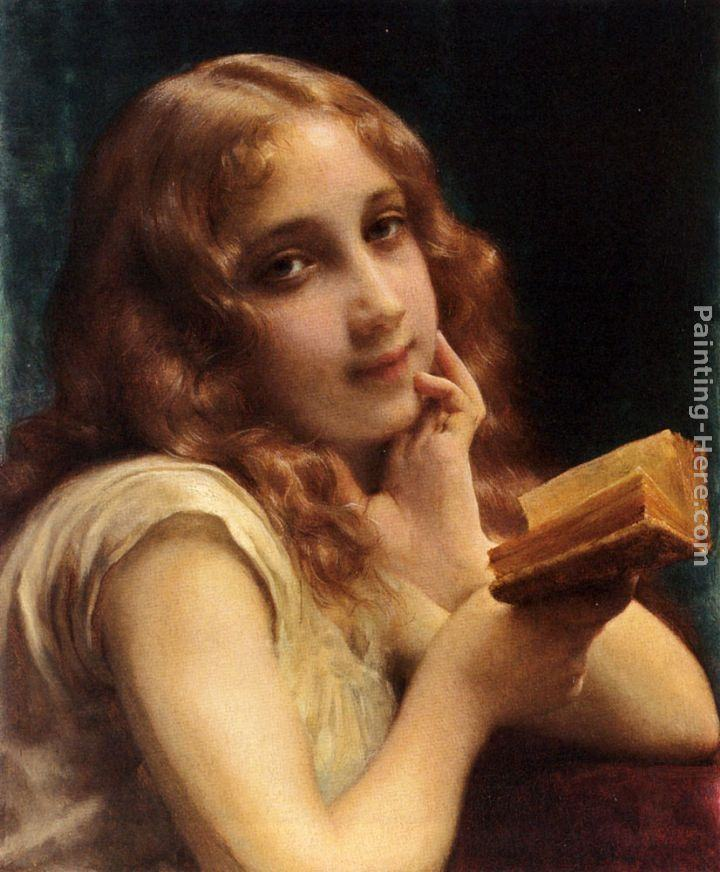 Etienne Adolphe Piot A Little Girl Reading