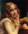 Etienne Adolphe Piot - A Little Girl Reading