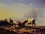 Eugene Verboeckhoven - A gathering in the pasture