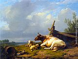 Famous Cattle Paintings - Cattle on the Waterfront