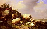 Eugene Verboeckhoven - Guarding The Flock By The Coast