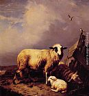 Eugene Verboeckhoven - Guarding the Lamb