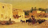 Eugene-Alexis Girardet - Leaving the Market
