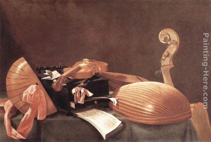 Evaristo Baschenis Still-Life with Musical Instruments
