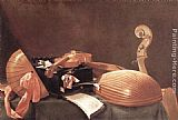 Evaristo Baschenis Still-Life with Musical Instruments painting