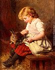 Felix Schlesinger The Pet Rabbit painting