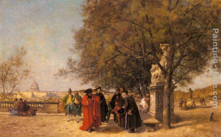 Ferdinand Heilbuth The Greeting In The Park