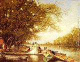 Ferdinand Heilbuth - Boating Party on the Thames