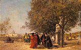 Ferdinand Heilbuth The Greeting In The Park painting
