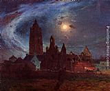 Ferdinand Loyen Du Puigaudeau - The Bourg-de-Batz Church under the Moon