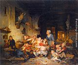 Ferdinand de Braekeleer The Village School painting