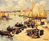 Fernand Marie Eugene Legout-Gerard A French Harbor painting