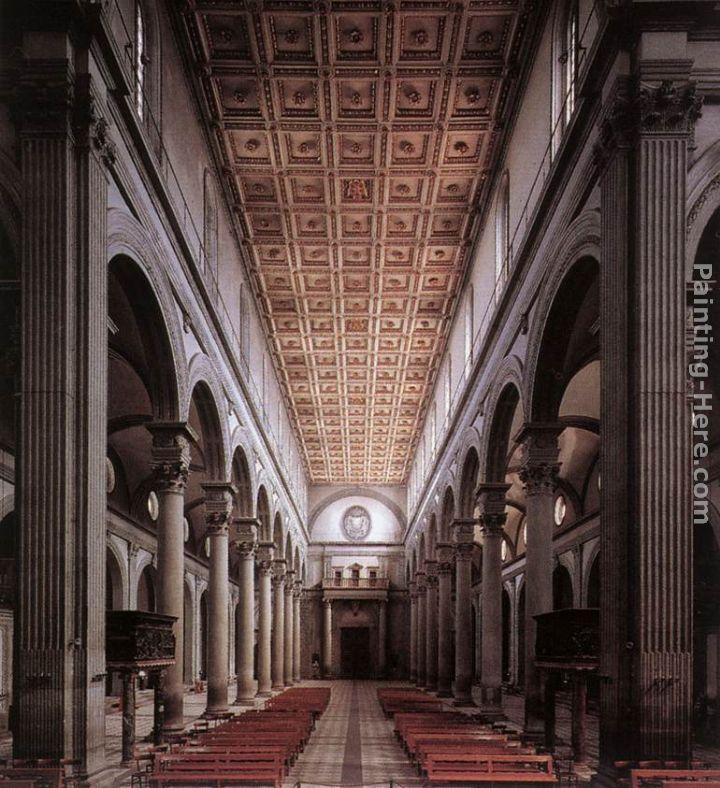 Filippo Brunelleschi The nave of the church