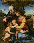 Famous Saint Paintings - The Madonna and Child in a Landscape with Saint Elizabeth and the Infant Saint John the Baptist
