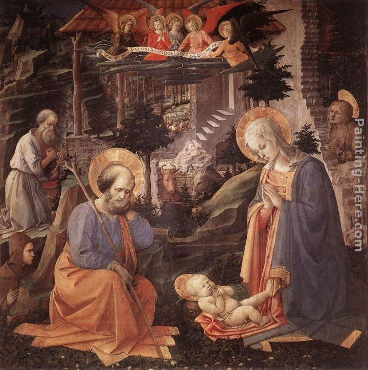 Fra Filippo Lippi Adoration of the Child