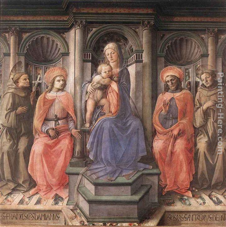 Fra Filippo Lippi Madonna Enthroned with Saints