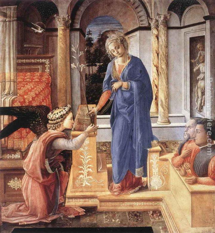 Fra Filippo Lippi The Annunciation with two Kneeling Donors