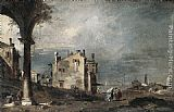 Francesco Guardi - Capriccio with Venetian Motifs