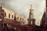 Francesco Guardi - Carnival Thursday on the Piazzetta