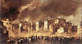 Francesco Guardi - Fire in the San Marcuola Oil Depot
