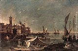 Francesco Guardi - Landscape with a Fisherman's Tent