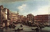 palazzo Canvas Paintings - The Rialto Bridge with the Palazzo dei Camerlenghi