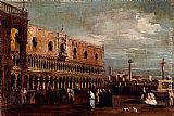 palazzo Canvas Paintings - Venice, A View Of The Piazzetta Looking South With The Palazzo Ducale