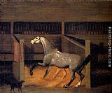 Francis Sartorius A Dappled Grey In A Stall painting
