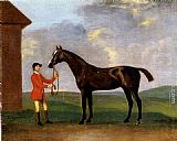 Francis Sartorius Captain Dennis O'Kelly's Basilimo Held By A Groom painting