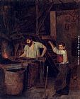 Francois Bonvin - The Blacksmith's Shop