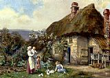 Cottage Wall Art - In A Cottage Garden
