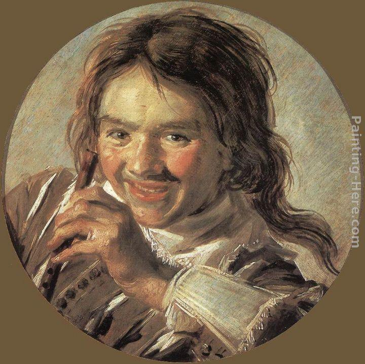 Frans Hals Boy holding a Flute (Hearing)