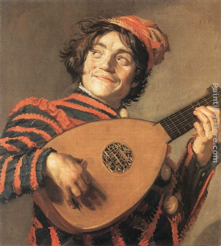 Frans Hals Buffoon Playing a Lute