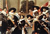 Frans Hals Canvas Paintings - Banquet of the Officers of the St George Civic Guard Company