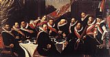 Frans Hals Canvas Paintings - Banquet of the Officers of the St. George Civic Guard