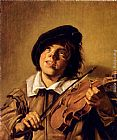 Frans Hals Boy Playing A Violin painting