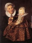 Frans Hals Catharina Hooft with her Nurse painting