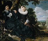 Van Canvas Paintings - Marriage Portrait of Isaac Massa en Beatrix van der Laen
