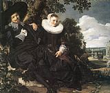 Frans Hals Married Couple in a Garden painting