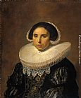 Van Canvas Paintings - Portrait of a woman, possibly Sara Wolphaerts van Diemen